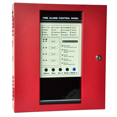 CK1008  Fire Alarm Control Panel  4 zone多线火警控制面板